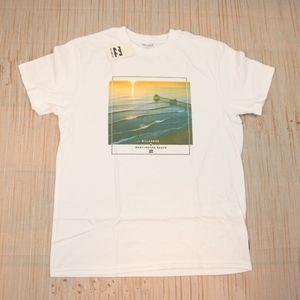 Billabong T Shirt Large Size /White Color/